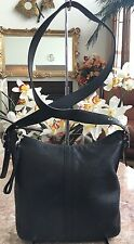 Coach Slim Legacy Black Leather Convertible Duffle Shoulder Handbag 9326 EUC
