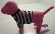Victoria's Secret Pink Dog Puppy Port Au Pink Used Collector Doll Stuffed Toy 7""