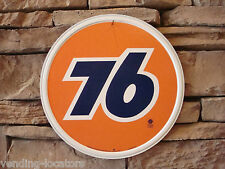 UNION 76 GASOLINE EMBOSSED METAL CIRCLE SIGN AUTO SHOP GARAGE FREE SHIPPING NEW