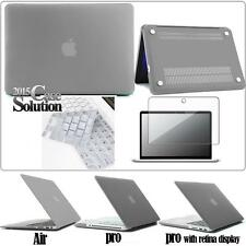 Rubberized Hardshell Case +Screen protector +UK Keyboard Cover for Apple MacBook