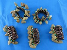 6 pcs rasta Chajchas nuts shaker percussion instrument, can be worn as anklet