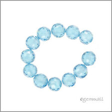 Cubic Zirconia Round Beads 6mm London Blue #64696