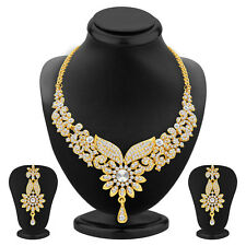 Sukkhi Fabulous Gold Plated AD Necklace Set(2560NADP800)