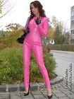 Leder Catsuit Ledercatsuit Anzug Overall Pink Maßanfertigung