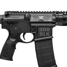AR15 300 Blackout BLK - Magwell Lower Decal Sticker .300 AAC 7.62×35mm (2 Pack)