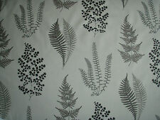 "SANDERSON CURTAIN FABRIC DESIGN  ""Angel Ferns"" 5.3 METRES CHARCOAL (530 CM)"
