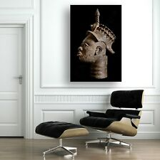 IFE BRONZE HEAD ~ COMPELLING Lg WALL ART 20x30 Ready to Hang ~ CANVAS WRAP PRINT