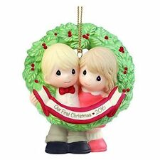 OUR FIRST CHRISTMAS TOGETHER~2016 PRECIOUS MOMENTS ORNAMENT~NEW~FREE SHIP US~