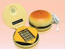 Funky Dial Retro Cord Hamburger Telephone Phone Vintage Novelty Gift Kids Home