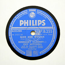 """ROSEMARY CLOONEY & GUY MITCHELL """"Man And Woman"""" PHILIPS PB-255 [78 RPM]"""