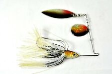 Sigi Invader 1/2 oz Spinnerbait Lure Holographic Red Colorado Blade Grizzly Bear