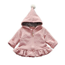 Cinda Girls Dark Pink Long Sleeves Hooded Coat 18-24 Months