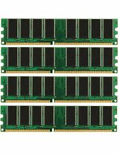 NEW! 4GB 4X 1GB DDR PC3200 4 GB PC 3200 LOW DENSITY DESKTOP MEMORY RAM DUAL KIT