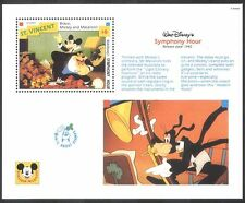 St Vincent 1992 Disney/Mickey/Music/Orchestra/Films/Cinema/Cartoons m/s (b2229e)