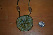 "Vintage Glazed Colored Silver Dollar Necklace ""Hipster"" Circa 1970's BEAUTY!"