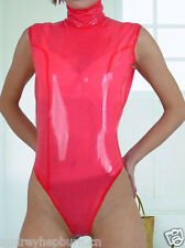 Latex Rubber Gummi Tights Ganzanzug Pink Fitness clothing Catsuit Size XS-XXL