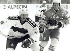 1990 Original Photo Ice Hockey World Championships game Team Germany vs Finland