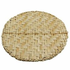 Set of 4 Natural Woven Rush Dining table Placemats dinner mats Round