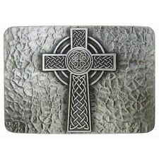 Rectangular Celtic Keltic Cross Belt Buckle Vintage Silver Irish Knot Cowboy New