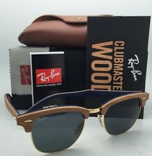 RAY-BAN Sunglasses CLUBMASTER WOOD RB 3016-M 1180/R5 Cherry & Gold w/Grey Lenses