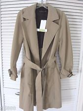 NWT ZARA NEW SEASON TRENCH COAT W/ BELT TAN LONG JACKET SZ M REF2761/240 $149.9