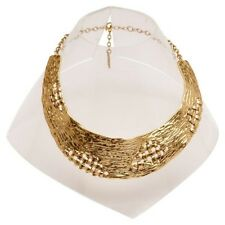 Karine Sultan 24k Gold-plate Basket Weave Collar Statement Necklace Gold Collar