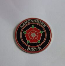 Lancashire Biker Enamel Pin Badge Motorcycle Biker Hells Angels  59 Rocker