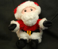 "Santa Claus Christmas Holiday Red White Beard Lovey Plush Toy 6"" Commonwealth"
