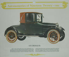 70's Old Paper ADVERTISEMENT Ad 1921 Auto STUDEBAKER