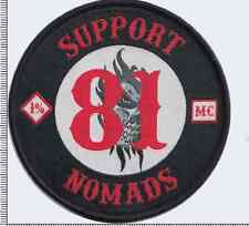 SUPPORT 81 NOMADS  MC Angels 666 Hells vest patch  Outlaw Biker 1% er NEW