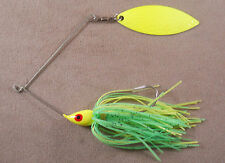 Bass Fishing Lure DR Custom Spinnerbait, 1/2 oz, 1 Hammered Willowleaf Blade