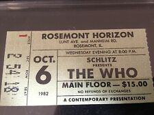 The Who Concert Ticket Stub from the Rosemont Horizon on 10-06-1982!