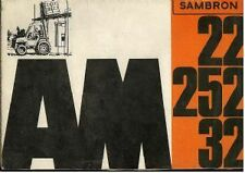 Sambron Forklift AM22 AM252 AM32 Operators Manual with Owners Parts List