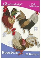 ROOSTERS Anita Goodesign Embroidery Machine Designs CD
