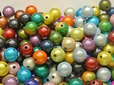 30 Mixed Color 3D Illusion Acrylic Miracle Round beads 14mm Spacer Craft DIY