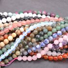 Wholesale Natural Gemstone FACETED Round Spacer Loose Beads 6MM 8MM 10MM 12MM