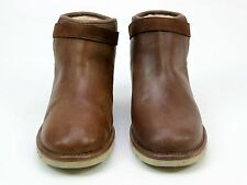 WOMENS GENUINE UGG AUSTRALIA RELLA TAN LEATHER CASUAL ANKLE BOOTS SIZE 7.5 FADED