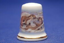 TCC Wedgwood Otters China Thimble B/76