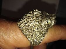 """Lion head 925 silver ring 9"""""""
