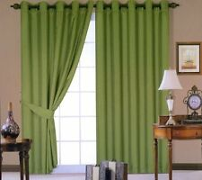 """Extra Long Drop Curtain 90"""" x 108"""" inch Faux Silk Fully Lined Eyelet Curtains"""