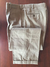 BRIONI Sport Khaki Cannes - 100% Cotton, Pleat Front, Cuffed, Pant Size 36x29