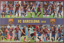 "FC BARCELONA ""18 SHOTS OF 2014 PLAYERS"" POSTER - Soccer, UEFA League Football"