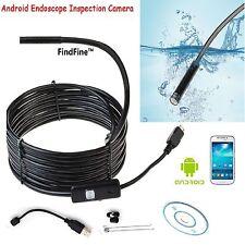 Impermeable 5.5MM 6 LED endoscopez Cámara Android Boroscopio Inspección Video Cámara