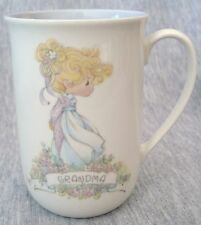 Precious Moments Coffee Tea Cocoa Mug Grandma Butcher Enesco 1989
