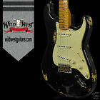 Fender 1956 AA Flame Maple Neck Heavy Relic Stratocaster Faded Black