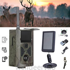 HC500G 12MP 3G IR Hunting Camera 1080P Scouting Trail Camera+Solar Panel Battery