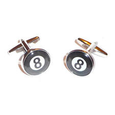 Black & White 8 Ball Cufflinks With Gift Pouch Pool Snooker Winner Champions