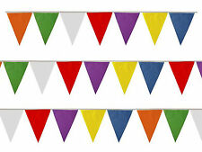 Multicolour Bunting 25 Triangle Flags 7 Metres 23ft PVC Party Rainbow 7 colours