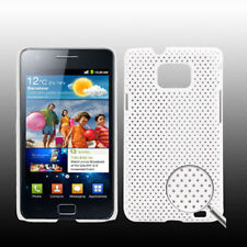 COVER HARD CASE RIGIDA PR SAMSUNG GALAXY S2 PLUS GT i9105P CUSTODIA BIANCO MESH
