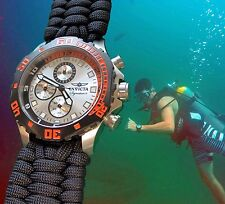 NEW! Invicta Pro Diver Watch w/ Handmade EXTRA WIDE Paracord 550 Watch Band
